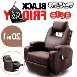 Electric Body Massage Chair Recliner Ergonomic Lounge Swivel