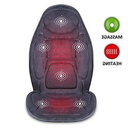 SNAILAX Vibration Massage Seat Cushion with Heat 6 Vibrating