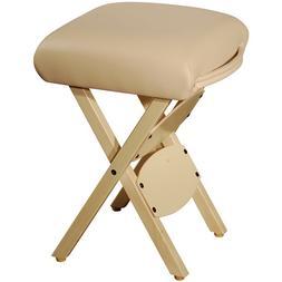 Master Massage Wooden Handy Folding portable adjustable stoo